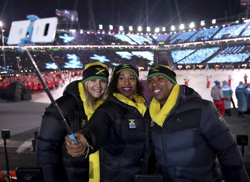Jamaica Athletes Selfie Olympics Social Media Pyeong Chang