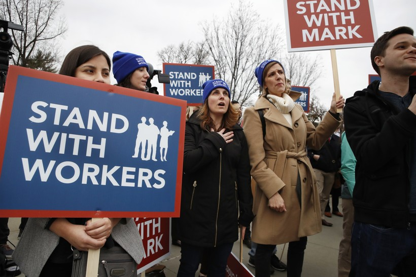 SCOTUS Demonstration Protest Right To Work Supreme Court Unions