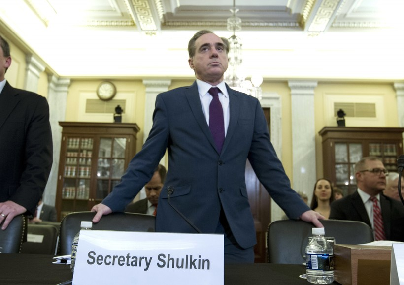 Veterans Affairs Secretary David Shulkin arrives to testify on veterans programs