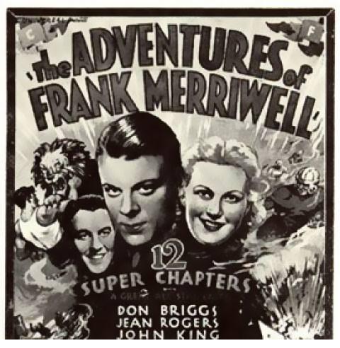 Promotional illustration for the radio program The Adventures of Frank Merriwell