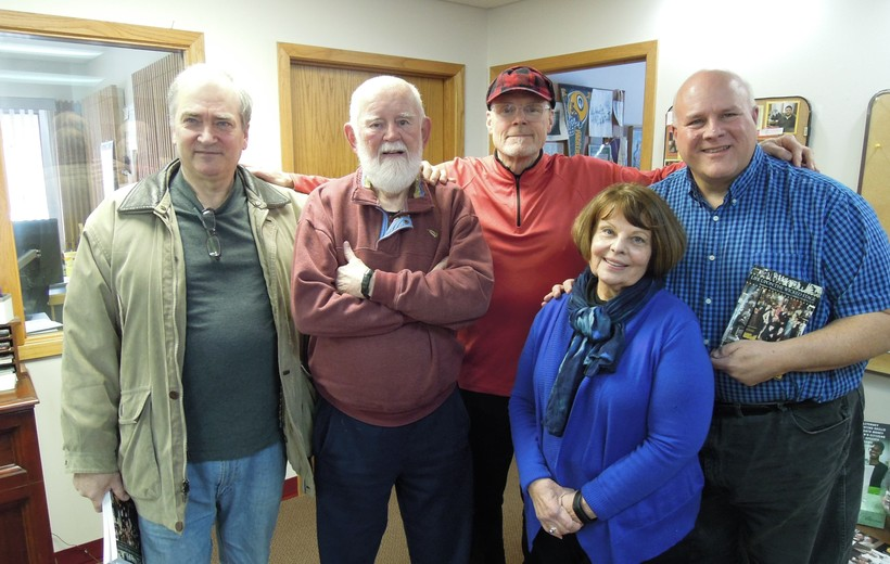 Jeff Rochon, Wil Denson, Carole Spenser, Steve Turek with host Al Ross in studio