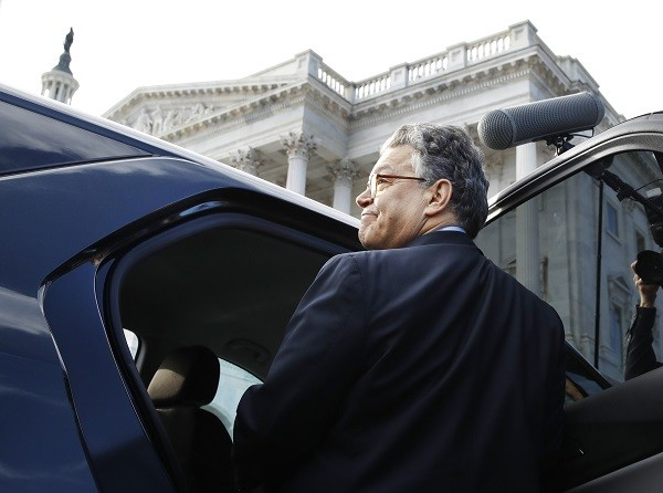 Sen. Al Franken, D-Minn., leaves the Capitol after speaking on the Senate floor, Thursday, Dec. 7, 2017, in Washington. Franken said he will resign from the Senate in coming weeks following a wave of sexual misconduct allegations and a collapse of support