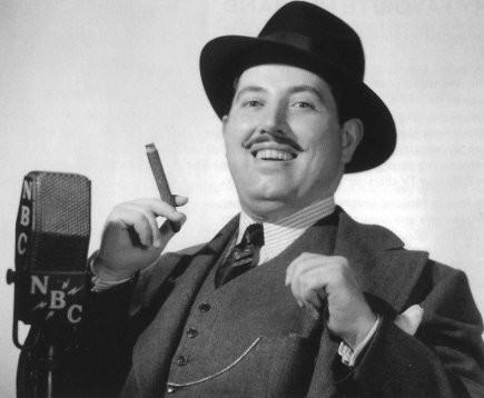 Photo of radio actor Harold Peary as the Great Gildersleeve