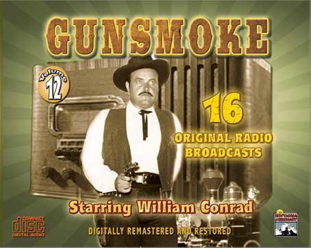 Promotional image for the radio program Gunsmoke