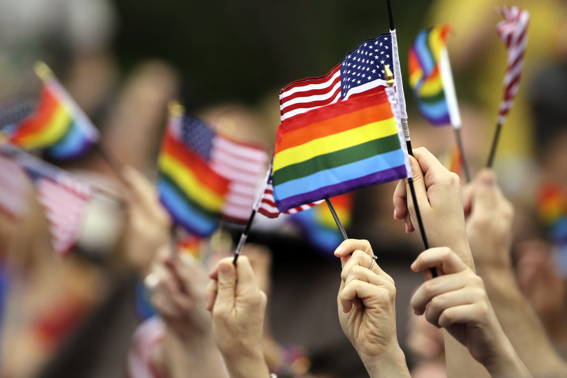 LGBT and United States flag