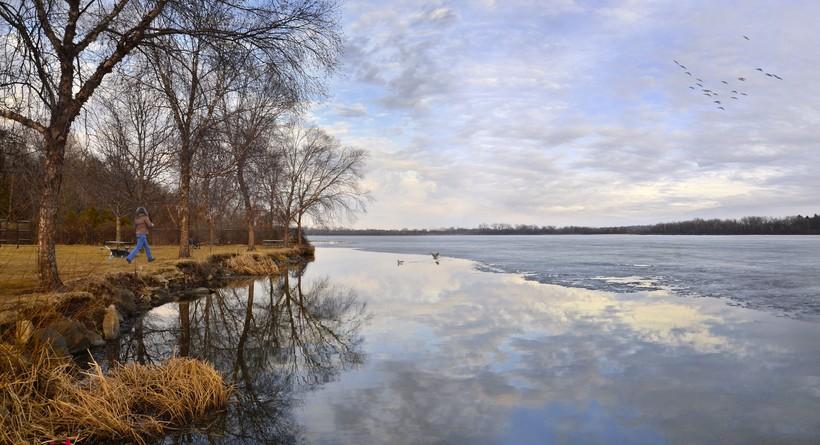 Spring thaw at Madison's Lake Wingra