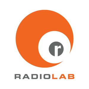 RadioLab Logo with orange sphere
