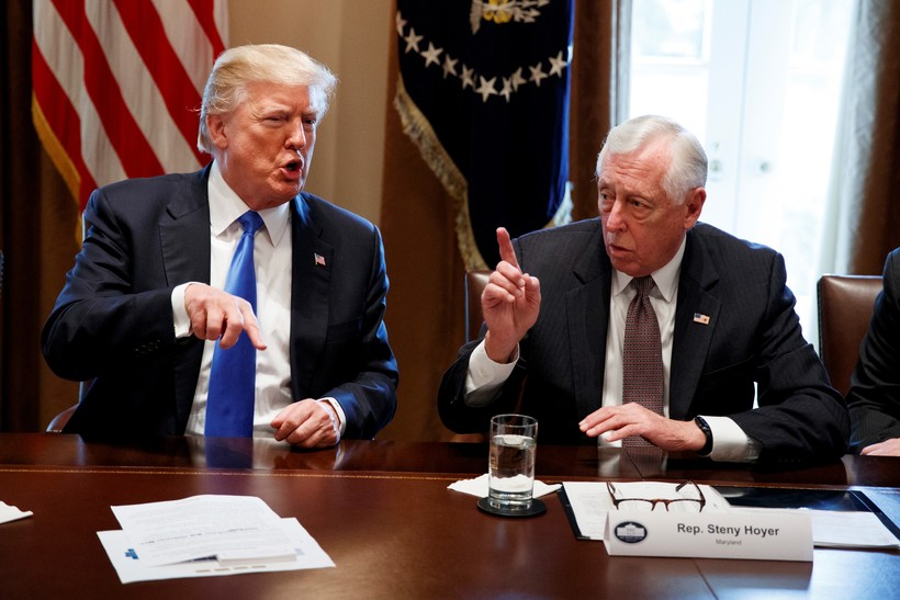 President Donald Trump and Rep. Steny Hoyer