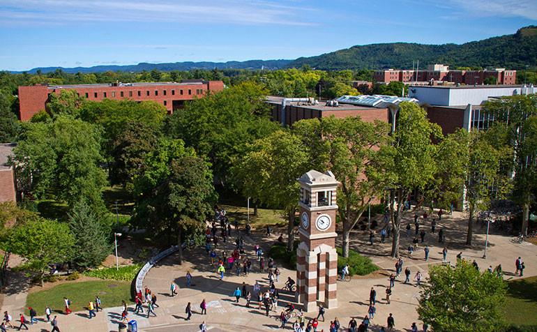 Students on the UW-La Crosse campus.
