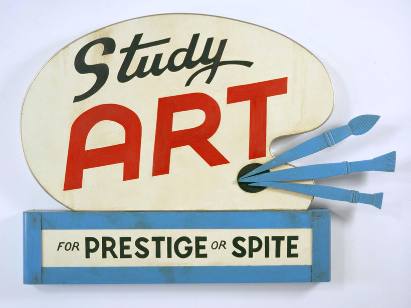 Study Art Sign (for Prestige or Spite)