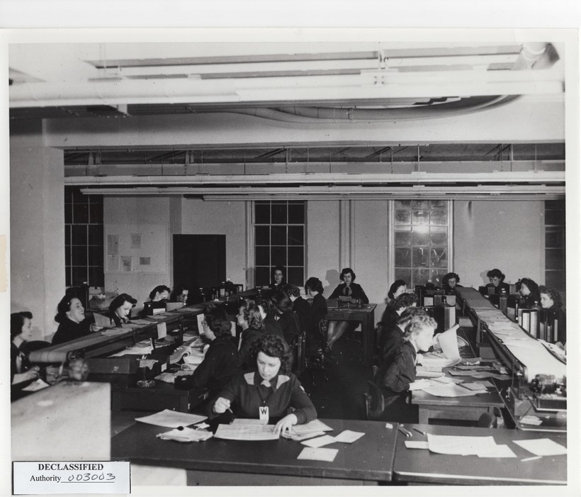 Women breaking naval codes during WWII