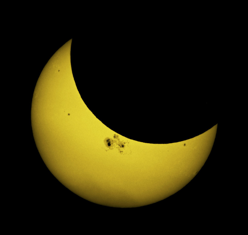 Partial eclipse of the sun