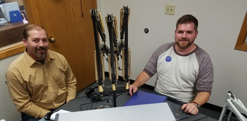 Republican candidate Treig Pronschinske and Democratic Candidate Rob Grover