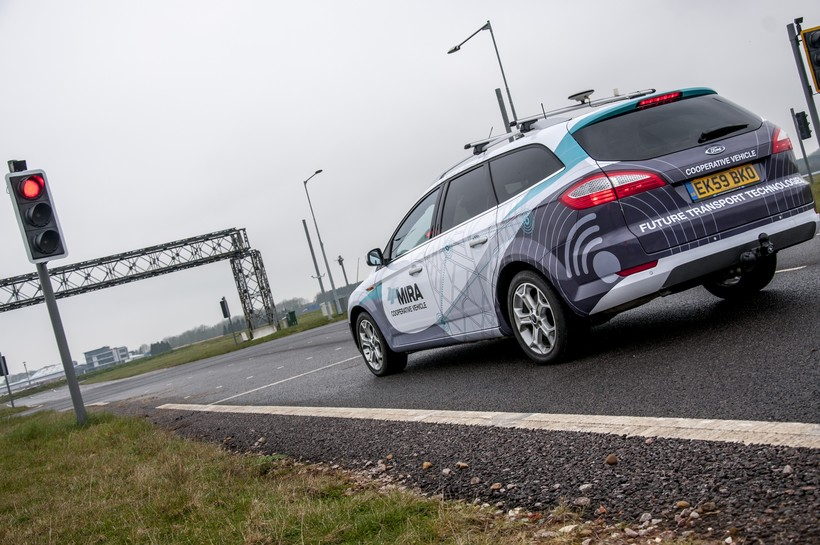 driverless car technology on the road
