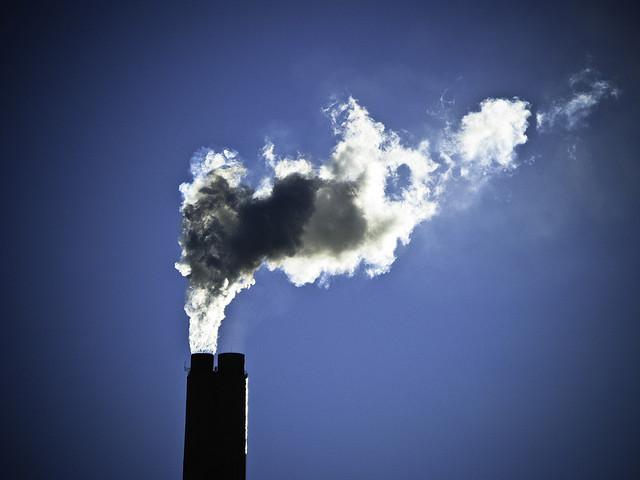 smokestack against sky