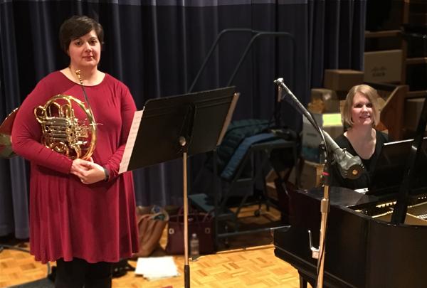 Photo of Katie Johnson-Webb and Kirstin Ihde in WPR Studios