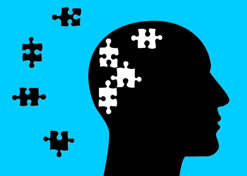 graphic of head with puzzel pieces