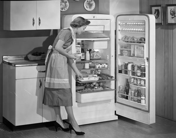cold, fridge, houework, appliances, 1950s