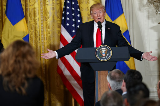 President Donald Trump speaks on March 6