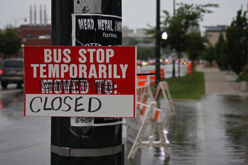 Madison Metro Transit has had to close bus stops and reroute bus routes due to flooding