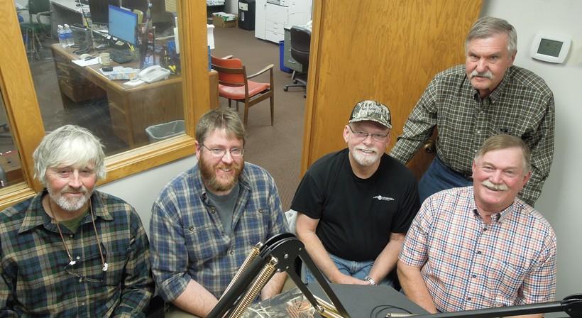 left to right Joe Knight, Mark Rassmussen, Dave Zielke, Mark Noll and standing Dave Carlson