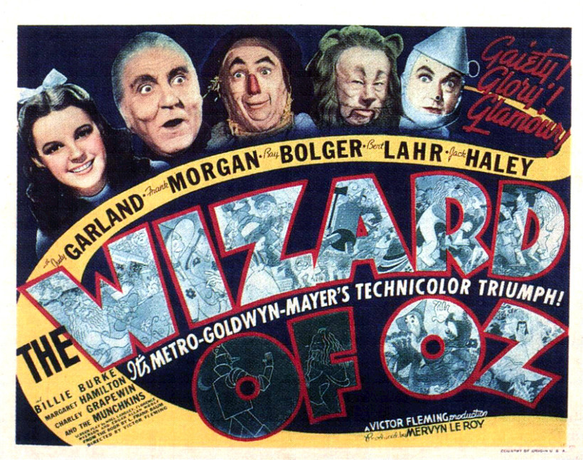 Poster from the movie The Wizard of Oz