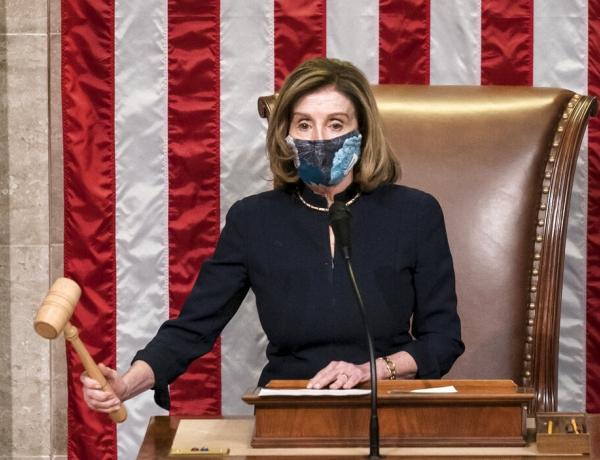 Nancy Pelosi during impeachment hearing