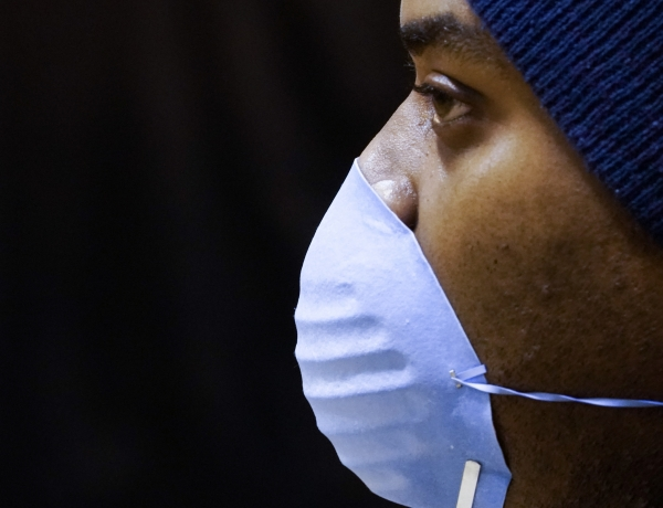voters masked against coronavirus