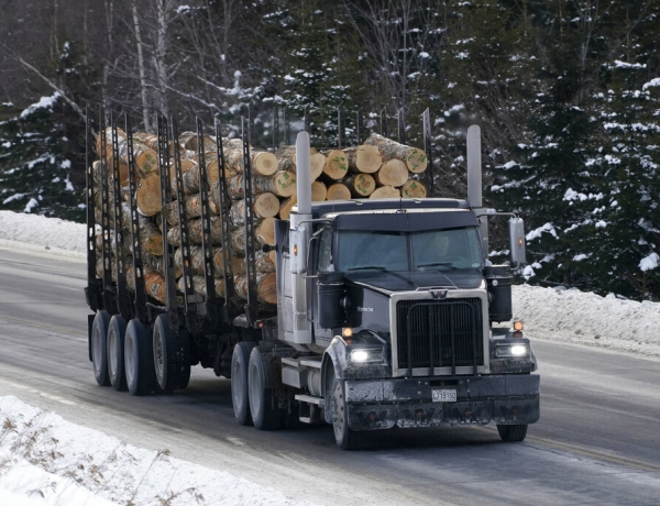 Logging truck in Maine