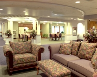 A common area in a senior home