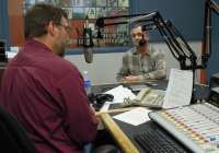 "Dan Robinson interviewing David Schipper for WPR's ""Simply Folk"""