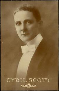 Photo of English composer Cyril Scott
