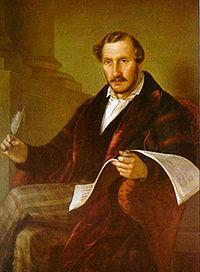 Portrait of composer Gaetano Donizetti