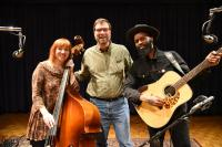Johanna Rose and Carl Nichols of Nickel & Rose with Simply Folk host Dan Robinson