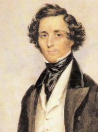 Portrait of Felix Mendelssohn from 1829