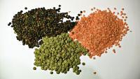 Piles of lentils