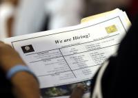 Job applicant looking at job listings