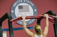 Wisconsin sailor Stephanie Roble does a pull up