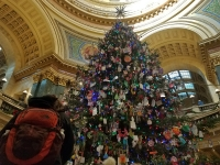 Wisconsin state Capitol Holiday Tree