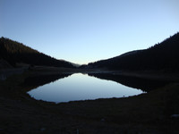 Poudre Lake is the headwaters of the Cache la Poudre River and signify the east side of the Continental Divide. 9.9.12