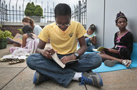 """Rohan Beckford, reads Percy Jackson's fifth book in the series """"The last Olympian"""""""