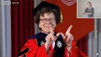 Chancellor Rebecca Blank addresses graduates virtually