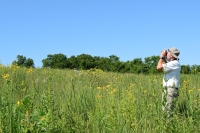 Rich Henderson on the Schurch-Thomson Prairie outside of Barneveld, Wisconsin
