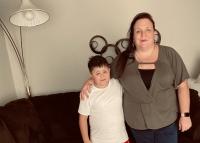 Jessica Barrera and her son Niko