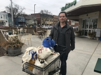 Aaron Jossart shopping in Madison
