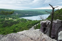 View of Devil's Lake from overlook