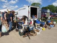 The flea market scene at the Shawano Flea Market in Shawano, Wisconsin.