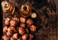 Bacon-Wrapped Beer Brats