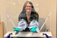 A desktop droplet barrier for coronavirus testing