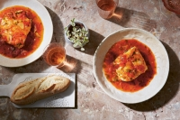 tomato poached cod fish herbs